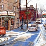 Peintures De Montreal Paintings Petits Formats A Vendre Restaurant Machiavelli Best Original Art   Art Print