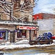 Peintures Petits Formats A Vendre Montreal Original Art For Sale Restaurant Chez Paul The Pointe Psc Art Print
