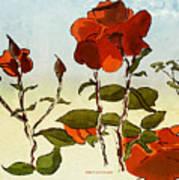 Peka Peka Roses Art Print