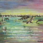 Pelicans Fly Psalm 139 Art Print