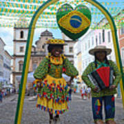 Pelourinho - Historic Center Of Salvador Bahia Art Print