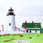 Pemaquid Point Lighthouse Art Print by Frederic Kohli