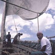 Pemba boat Art Print