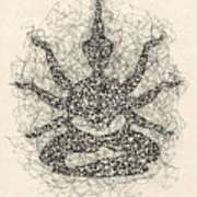 Pen And Ink Drawing Buddha  Art Print