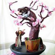 Pen-jing Dragon Plum Tree Art Print