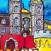 Pena Palace In Sintra Portugal  Art Print