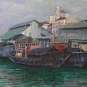 Penang Jetty Art Print