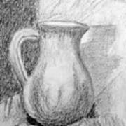 Pencil Pitcher Art Print
