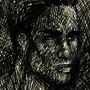 Pencilportrait 02 Art Print
