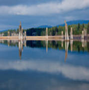 Pend Oreille River Pilings Art Print