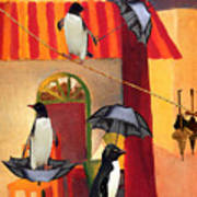 Penguin Cafe Art Print