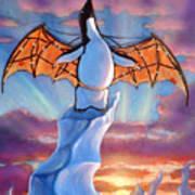 Penguin Wings Art Print by Michael Orwick