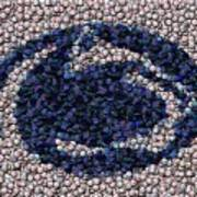Penn State Bottle Cap Mosaic Art Print