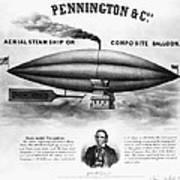 Penningtons Airship, 1850 Art Print