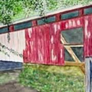 Pennsylvania Bridge To Nowhere Art Print