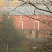 Pennsylvania German Barn In The Mist Art Print