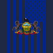 Pennsylvania State Flag Graphic Usa Styling Art Print