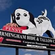 Penny Dog Food Sign 1 Art Print