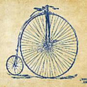 Penny-farthing 1867 High Wheeler Bicycle Vintage Art Print by Nikki Marie Smith