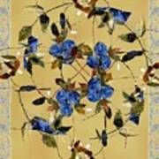 Penny Postcard Silk-stitched Art Print