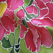 Peonies In The Garden Print by Joanna White