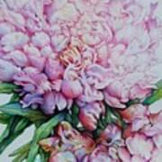 Peony Pink Parfait  Art Print