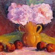 Peonys And Peaches Art Print