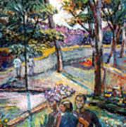 People In Landscape Art Print