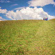 People On The Hill Painterly Art Print
