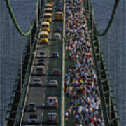People Participating In The Annual Art Print by Phil Schermeister