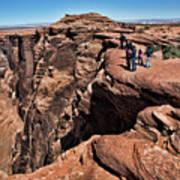 People View Horseshoe Bend Rock Edge  Art Print