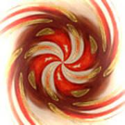 Pepermint Swirl Art Print