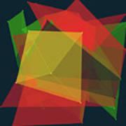 Pepper Polygon Pattern Art Print