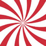 Peppermint Swirl Art Print