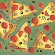 Pepperoni Pizza Art Print