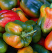Peppers Of Many Colors Art Print