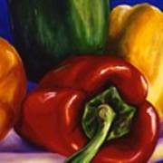 Peppers On Peppers Art Print
