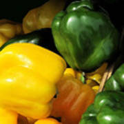 Peppers Yellow And Green Art Print