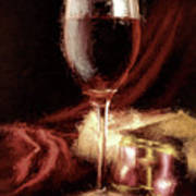 A Perfect Glass Of Wine Art Print