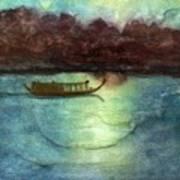 Perfume River By Moonlight Art Print