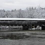 Perrine's Bridge After The Nor'easter Art Print