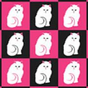 Persian Cat Pattern Art Print