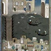 Persian Miniature, 1468 Art Print