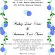 Personalized Wedding Invitations Art Print