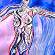 Personification Of Woman Art Print
