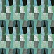 Perspective Compilation With Wood Grain And Teal Art Print