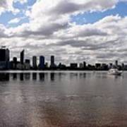 Perth City From South Perth Foreshore  Art Print