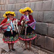 Peruvian Native Costumes  Art Print