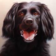 Pet Portrait Of A Black Labrador Art Print
