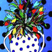 Petals And Dots Art Print